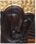 Dreiteiliges Buddha Wandbild 25*30 cm rechtsblickend