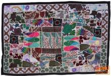 Indischer Wandteppich Patchwork, Einzelstück 100*155 cm - 15