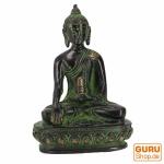 Buddha Statue aus Messing Akshobaya Buddha 10 cm - Modell 6