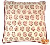 Kissenbezug Blockdruck, Kissenhülle Ethno, Dekokissen Bezug mit traditionellem Design - Muster 11