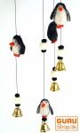 Filz Mobile mit Glöckchen Pinguin