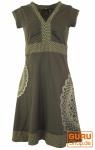 Minikleid, Boho Kleid Mandala Organic - braun