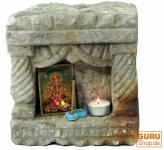 Sandstein Wandtempel, indischer Tempel, Wandschmuck - 1