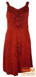 Besticktes indisches Minikleid Boho chic, Hippie Tunika, rot - Design 12