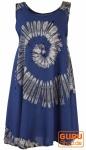 Batik Tunika, Hippie chic, Strandkleid, Sommerkleid - blau