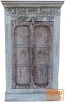 Kleiner Schrank aus Massivholz, Kolonialstil Indien