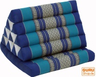 Thaikissen, Dreieckskissen, Kapok, Tagesbett mit 1 Auflage - blau