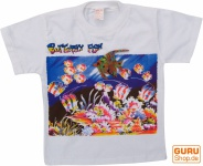 Kinder T-Shirt Hippie Goa mit `Fisch`