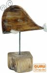 Geschnitzte Holzfigur Wal, Moby Dick 2, auf Holz-Metallständer - Modell 2
