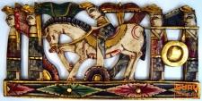 Balinesische Zeremonien Wandschmuck aus Holz - Wandbild 1
