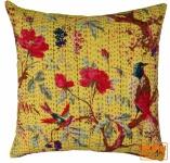Kissenhülle mit Ethno Muster `Paradies` - gelb