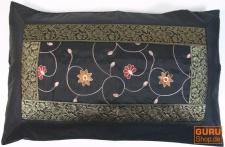 Orientalische Brokat Kissenhülle 70*45 cm - schwarz