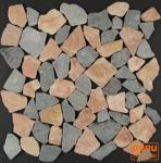 Mosaik Flächen Fliesen aus gem. Marmor (J-03)
