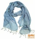 Baumwollschal taubenblau