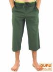 3/4 Yogahose, Goa Hose, Goa Shorts - olive