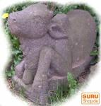 Lavasteinfigur Nandi, heilige Kuh 1