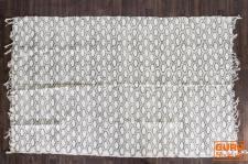 Hangewebter indischer Flickenteppich mit traditionellem Druck - schwarz 180*110 cm,, Nr. 10