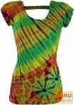Batik Hippie T-Shirt - grün