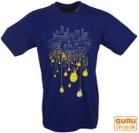 Fun T-Shirt `Großstadt` - blau