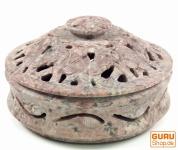 Indischer Räucherstäbchenhalter, Potpourri Schale aus Speckstein - Schale Elefant
