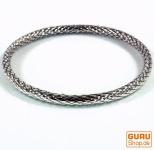 Silber Armreifen, geflochtener Silberreifen