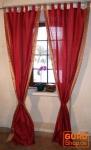 Vorhang, Gardine (1 Paar Vorhänge, Gardinen) aus Sareestoff - rost rot