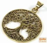 Amulett `Baum des Lebens` Kettenanhänger aus Messing