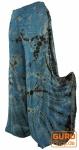Farbenfroher Batik Hosenrock - blau