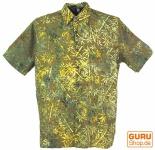 Hippiehemd, Bali - Batik Hemd - olive