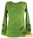 Langarmshirt Spirale - grün
