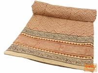 Blockdruck Tagesdecke, Bett & Sofaüberwurf, handgearbeiteter Wandbehang, Wandtuch Nr. 115