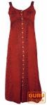 Besticktes Boho Sommerkleid, indisches Hippie Trägerkleid, rot - Design 13