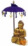 Zeremonienschirm, asiatischer Dekoschirm mittel - violett