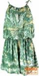 Kurzer luftiger Batik Overall im Hippiestyle - mint