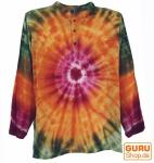 Batikhemd, Hippie Boho Hemd, Festival Hemd - orange/bunt