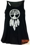Tanktop mit Ethnodruck Traumfänger - Baum des Lebens schwarz/weiß
