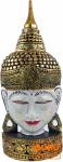 Stehende Buddha Maske, Thai Buddha Statue - weiß/gold