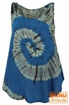 Batik Top, Tank Top, Sommertop, Strandtop, Hippie Top - blau