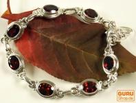 Indisches Silber Armband Granat
