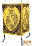 Lokta Papier Hänge-Lampenschirm, Deckenleuchte aus handgeschöpftem Papier - Lucky Fish gelb