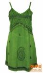 Besticktes indisches Kleid, Boho Minikleid, grün - Design 2