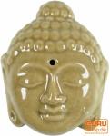 Räucherstäbchenhalter aus Keramik Buddhakopf - beige