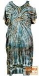 Boho Kaftan, langes Kurzarm Batikkleid, Strandkleid, Sommerkleid in Übergröße - grau/beige