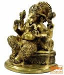 Messingfigur Ganesha Statue