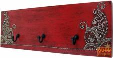 3èr Wandhaken `Bagru` rot
