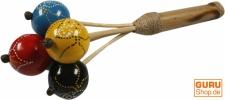 Musikinstrument aus Holz, Musik Percussion Rhythmus Klang Instrument, handgearbeitet - Handrassel 7
