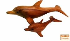Deko Delphin, geschnitzt in 2 Größen