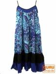 Minikleid Hippie chic, Sommerkleid, kurzes Kleid, Trägerkleid - blau