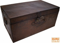 Alter Blechkoffer antiker Metallkoffer - Modell 1