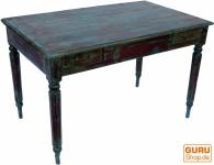 Antiker Schreibtisch mit Patina, 2 Schubfächern